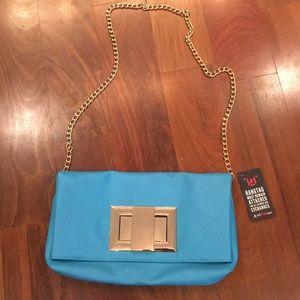 JUSTFAB BRAND NEW W/TAGS blue purse.